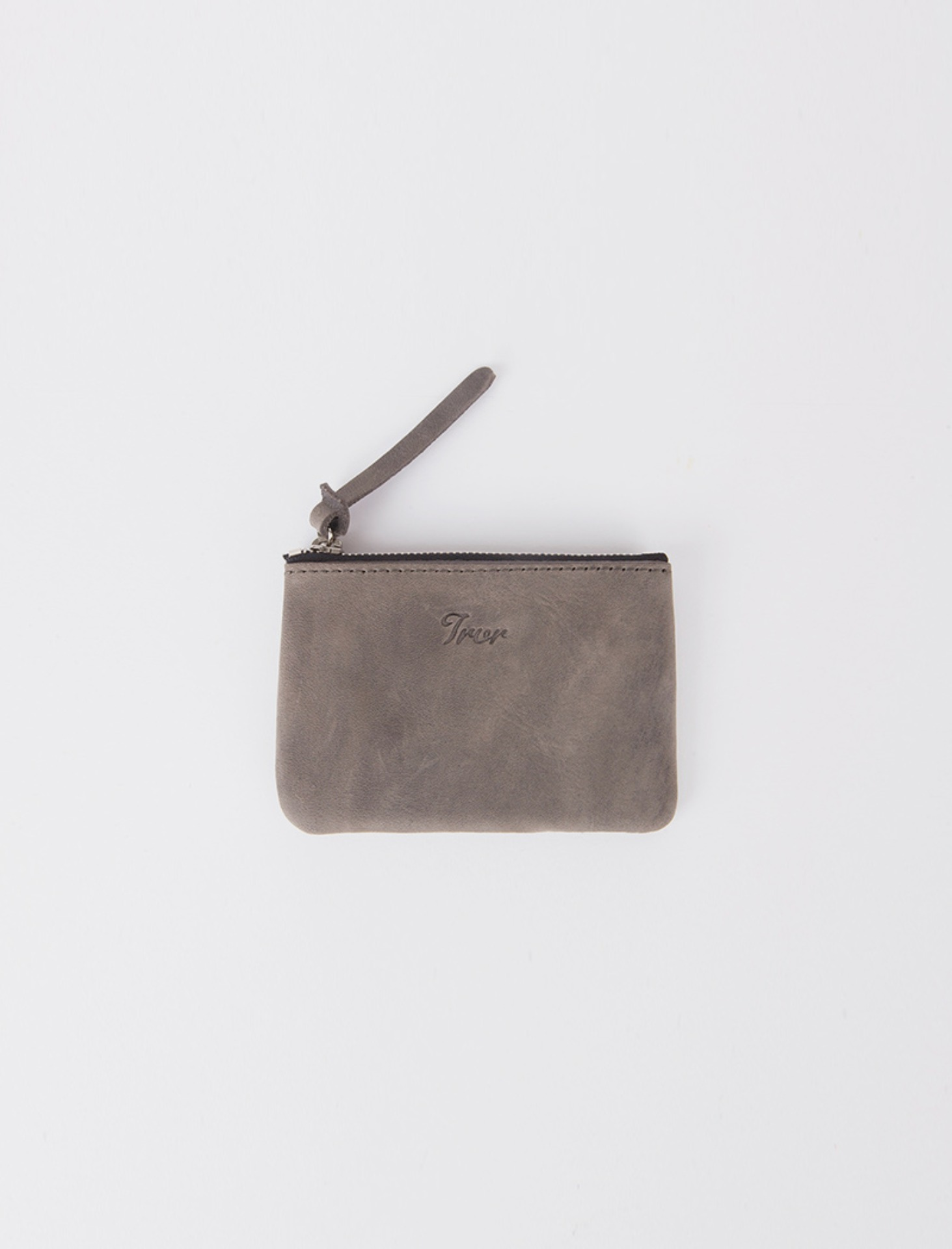Leather Pouch S_Grey