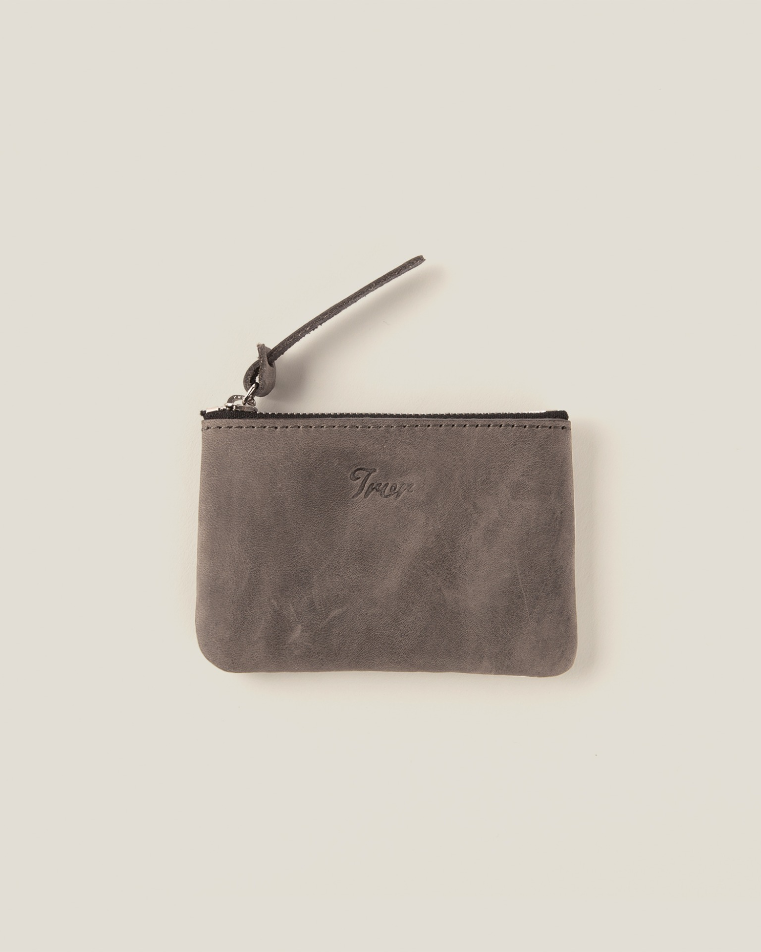 Leather Pouch S-Grey