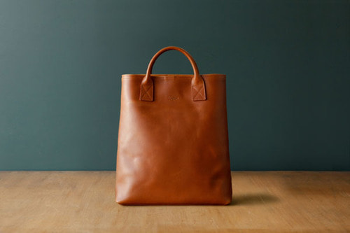 DAY LEATHER TOTE M - TANNED