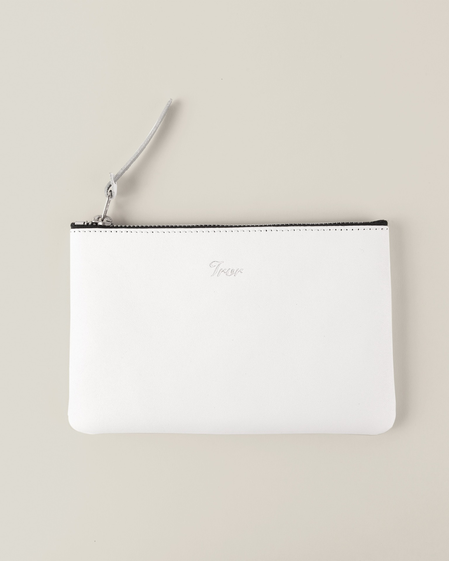 Leather Pouch M-White