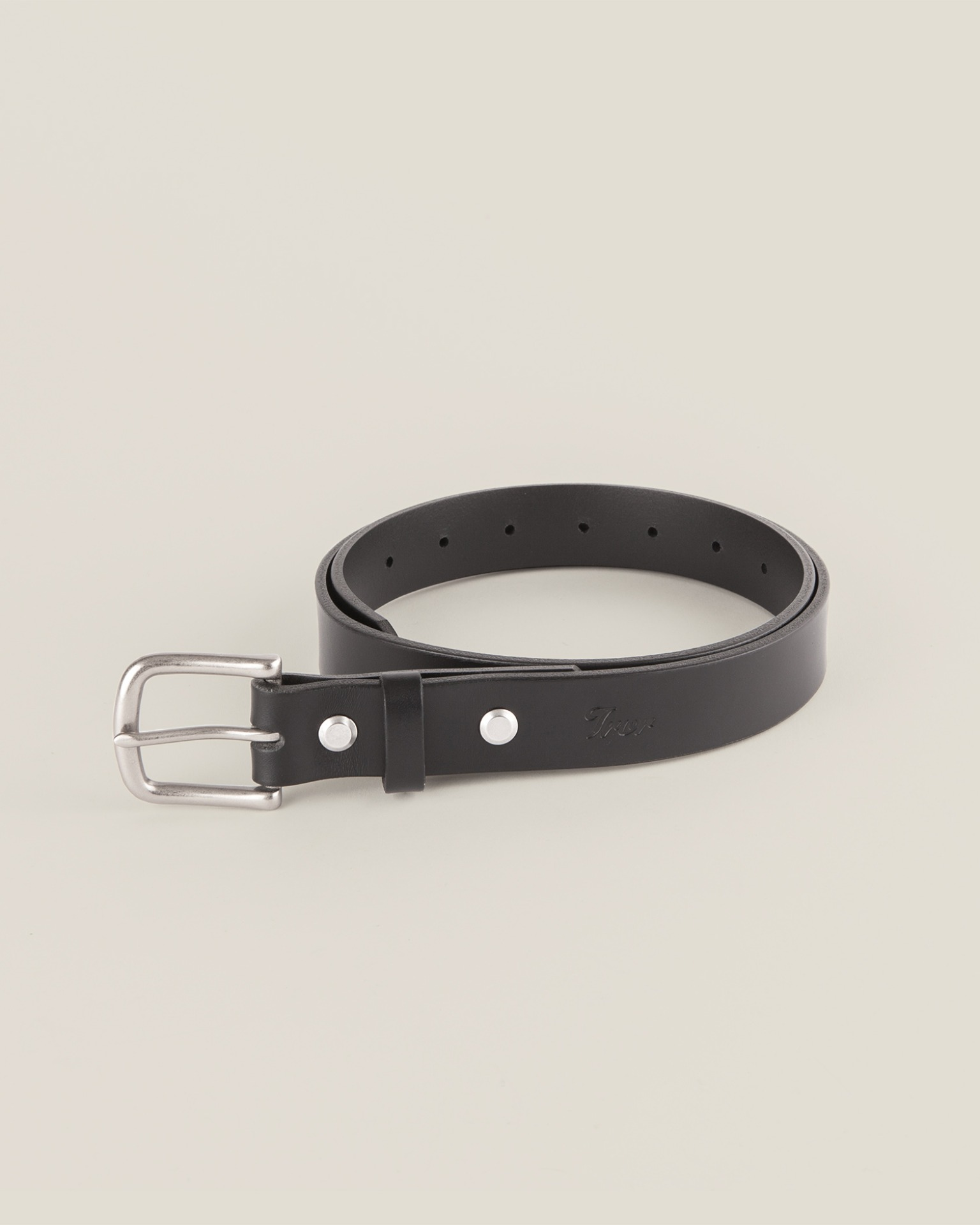 Leather Belt Black 1321